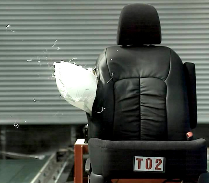 A driving seat with a side airbag