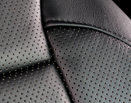 Perforated leather insert type feature image2