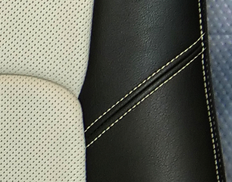 Perforated leather insert type feature image3